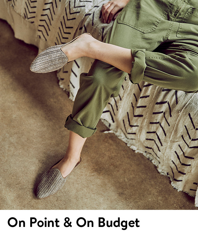 On-point and on-budget women's mules.