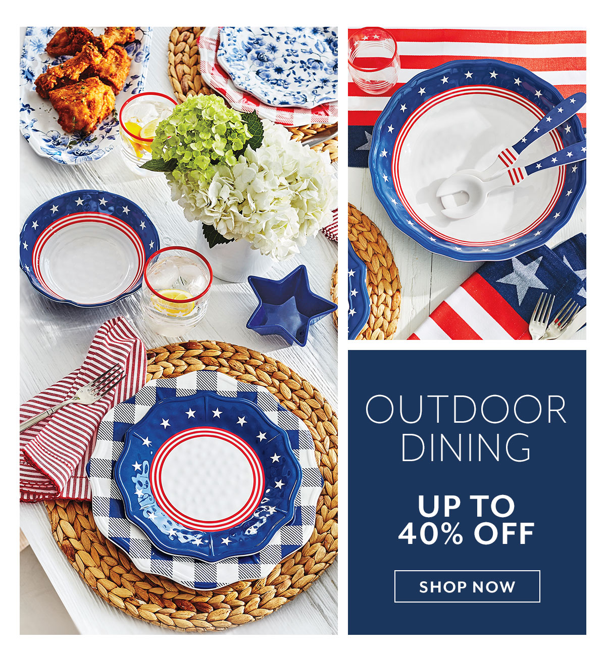 Outdoor Dining up to 40% off