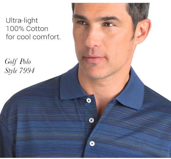 Blended Stripe Golf Polo - Style 7994