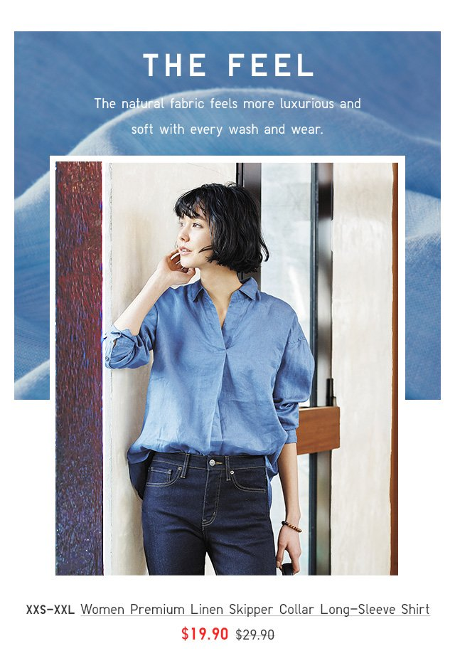 BODY5 - WOMEN PREMIUM LINEN SKIPPER COLLAR SHIRT