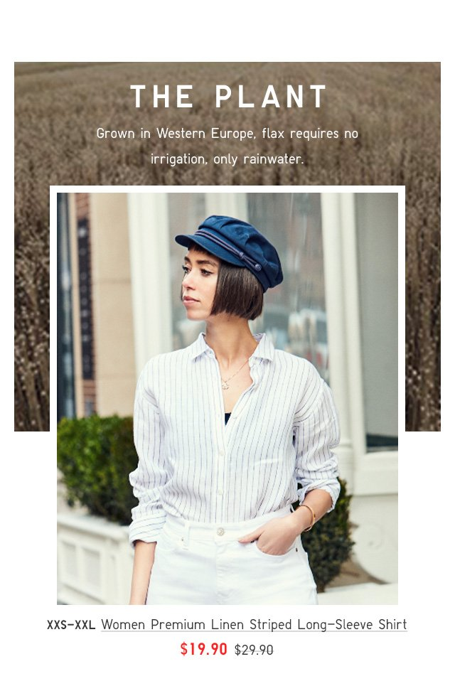 BODY1 - WOMEN PREMIUM LINEN LONG-SLEEVE SHIRT
