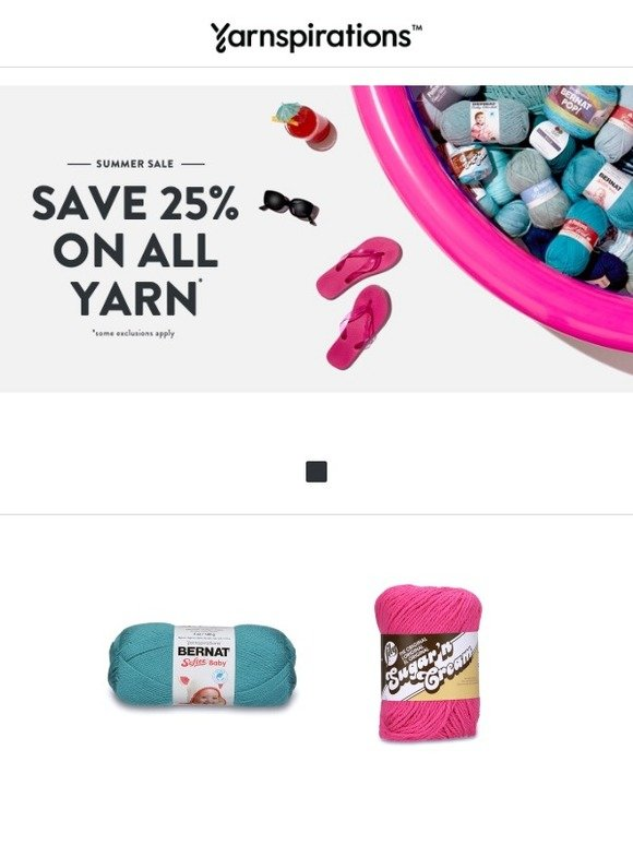 Yarnspirations: 25% OFF ON ALL YARN 🌊 Dive into these savings