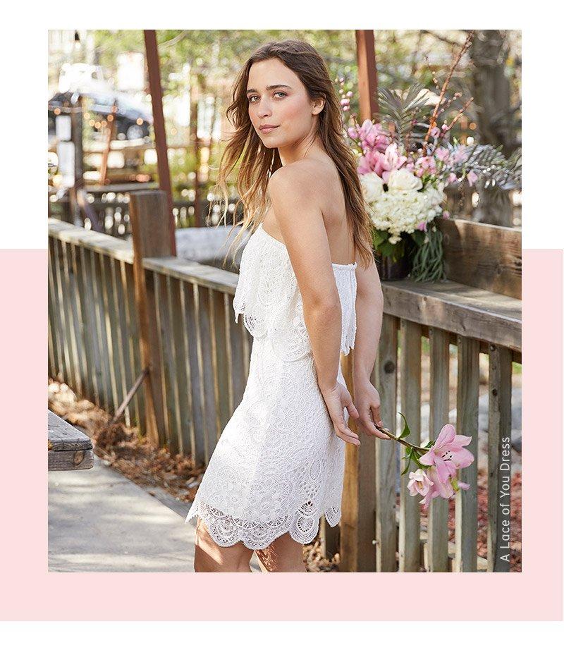A lace of you dress. Shop now.