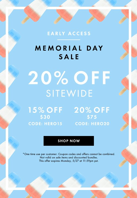 Memorial Day Sale Early Access