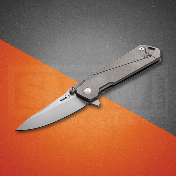 BOKER PLUS KIHON TITANIUM VG10 STAINLESS STEEL BLADE GRAY TITANIUM HANDLE