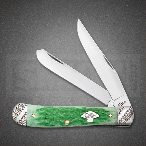 CASE EMERALD GREEN BONE TRAPPER TRU-SHARP SURGICAL STEEL BLADES