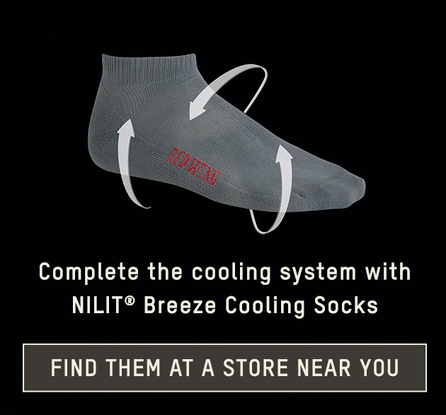 Complete the cooling system with NILIT® Breeze Cooling Socks - find them at a store near you