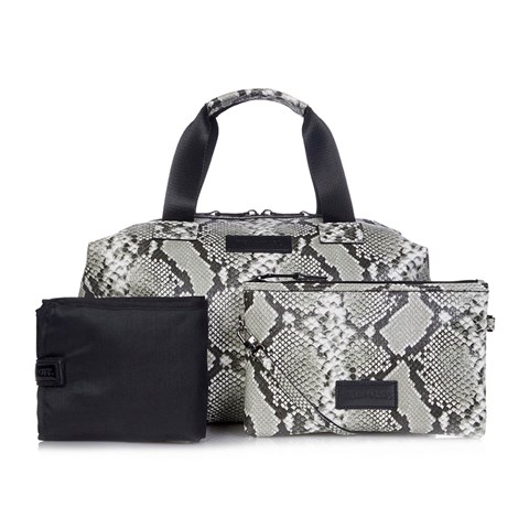 Tiba + Marl Snake Print Raf Holdall Bag