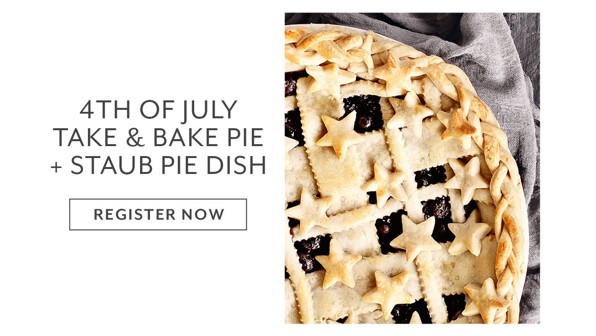 Class: 4th of July Take & Bake Pie + Staub Pie Dish