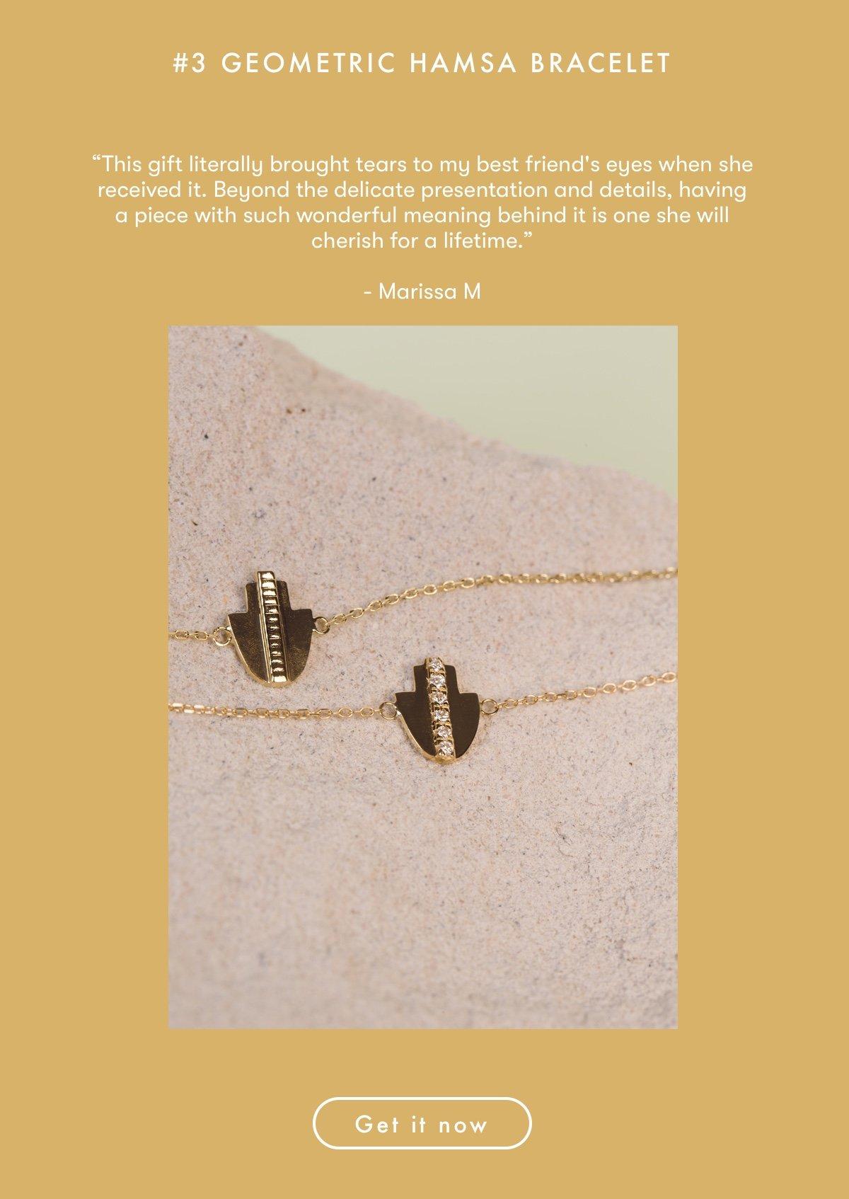 Geometric Hamsa Bracelet