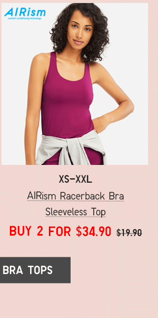 BODY11 - WOMEN AIRISM RACERBACK BRA SLEEVELESS TOP