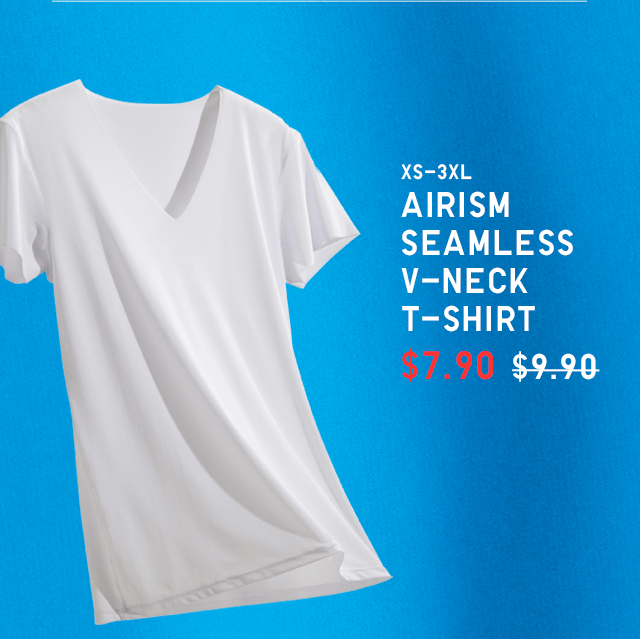 BODY4 - MEN AIRISM SEAMLESS V-NECK T-SHIRT