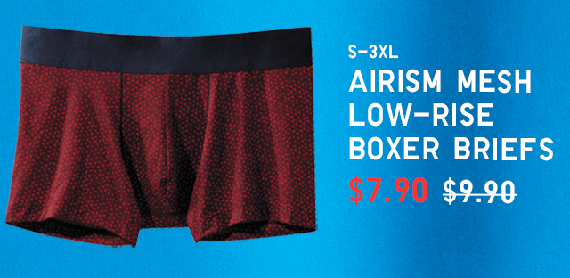 BODY6 - MEN AIRISM MESH LOW-RISE BOXER BRIEFS