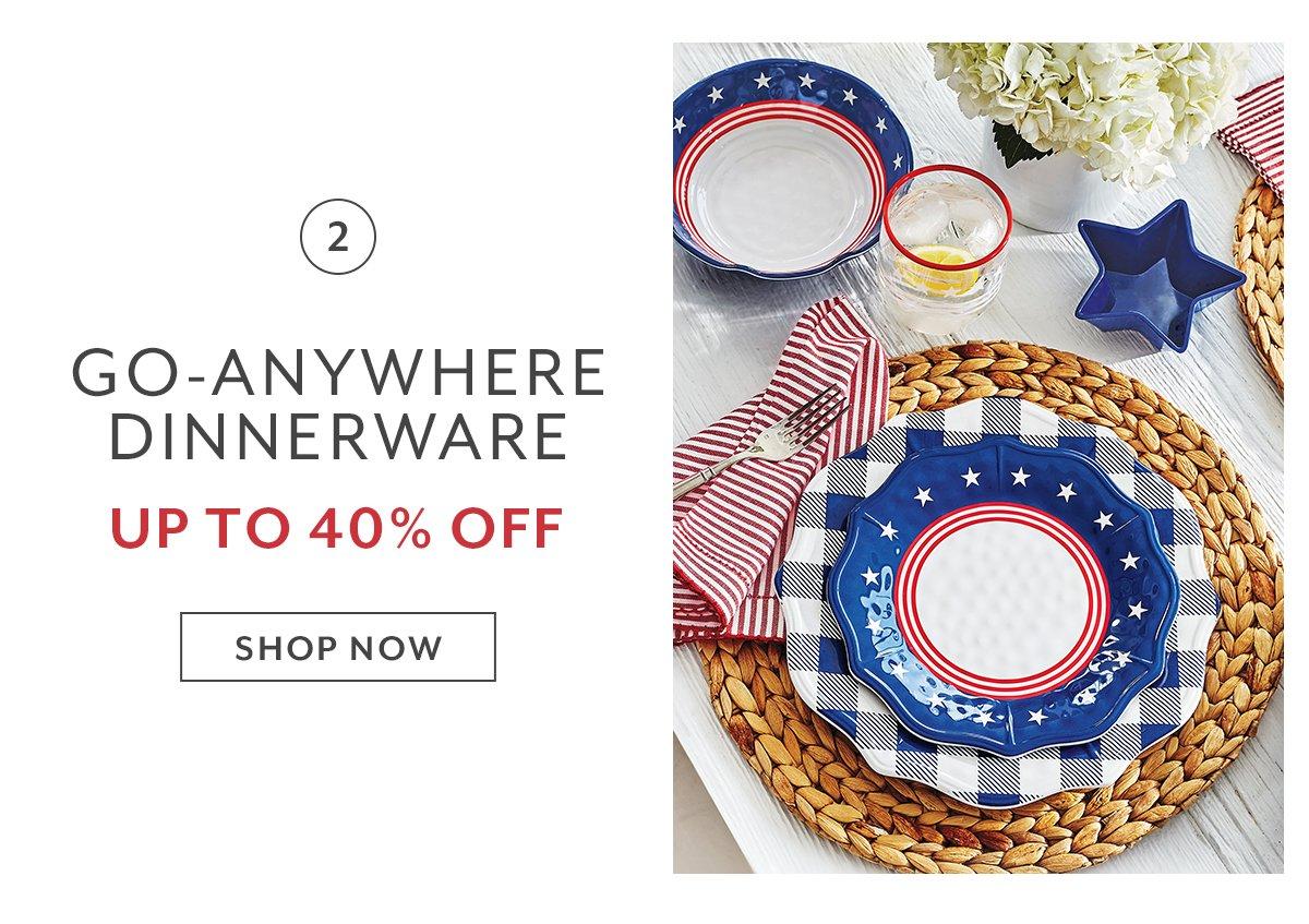 Go-Anywhere Dinnerware