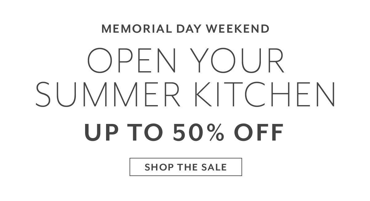 Memorial Day Weekend •Open Your Summer Kitchen