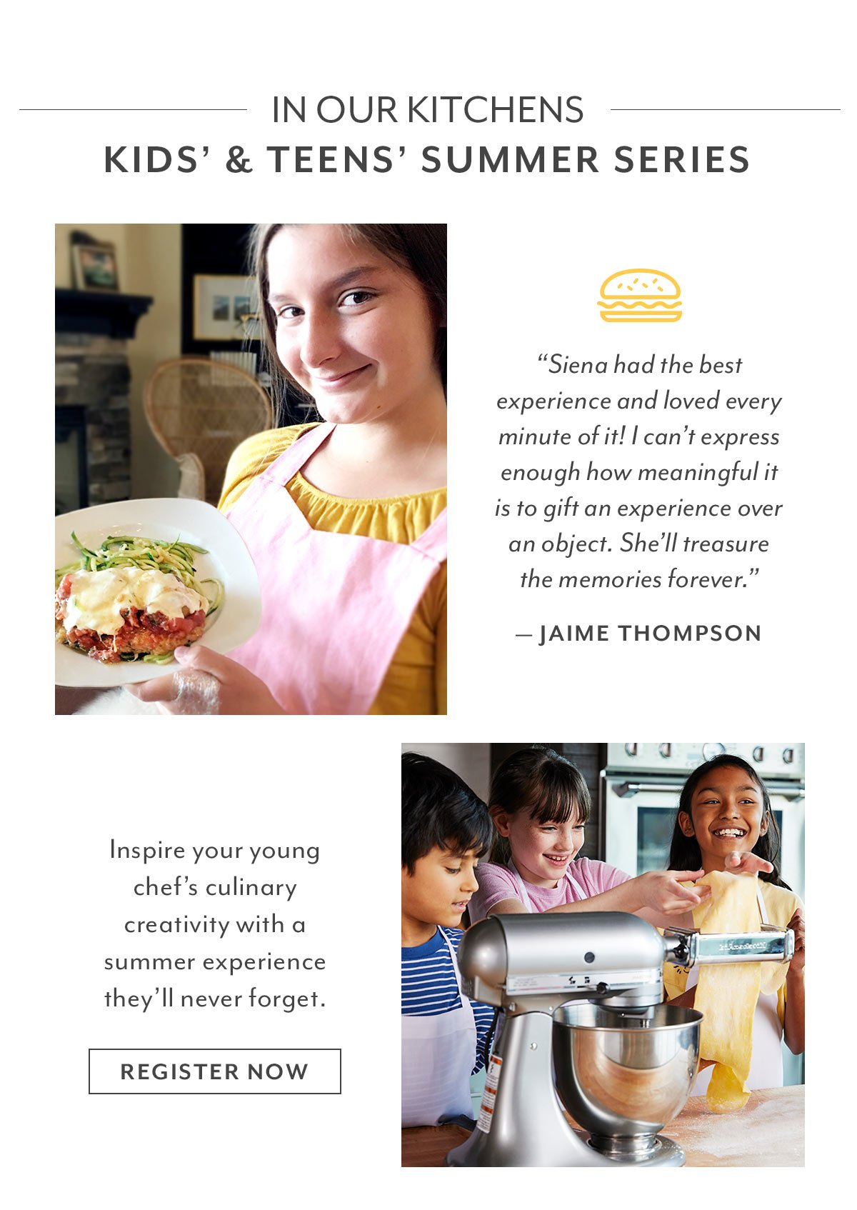 In Our Kitchens • Kids' & Teens' Summer Series