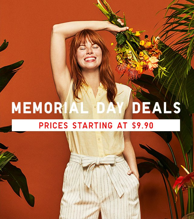 HERO HEADER - MEMORIAL DAY DEALS