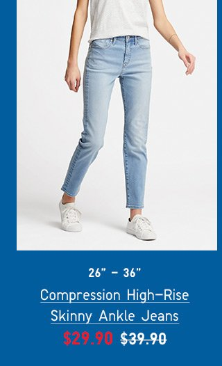 BODY5 - WOMEN COMPRESSION SKINNY HIGH RISE ANKLE JEANS