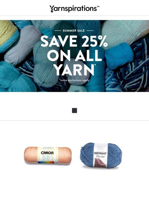 Yarnspirations: SUMMER SALE: 25% off all yarn ends soon! | Milled