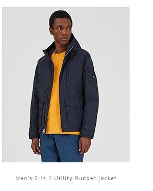 Men's 2 in 1 Utility Rudder Jacket
