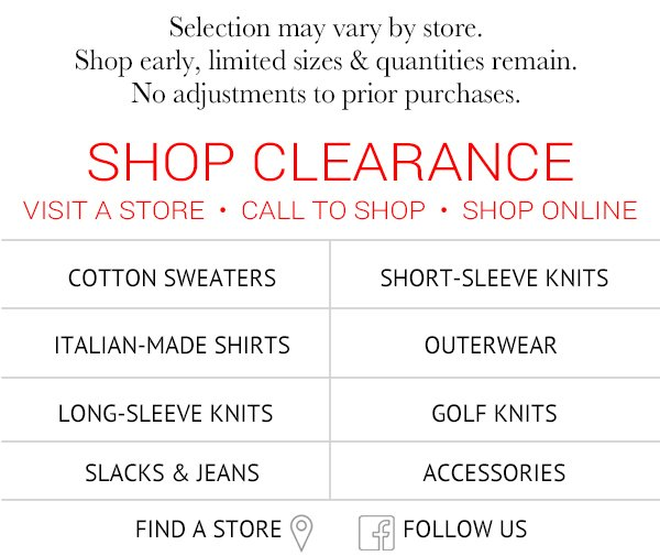Shop Clearance Savings Now