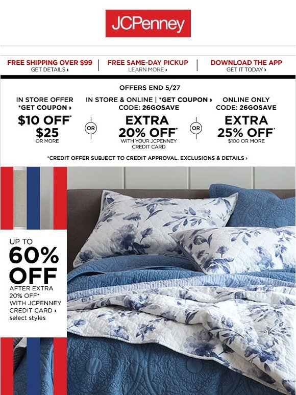 JC Penney: Clock's ticking! Up to 60% OFF Home | Milled