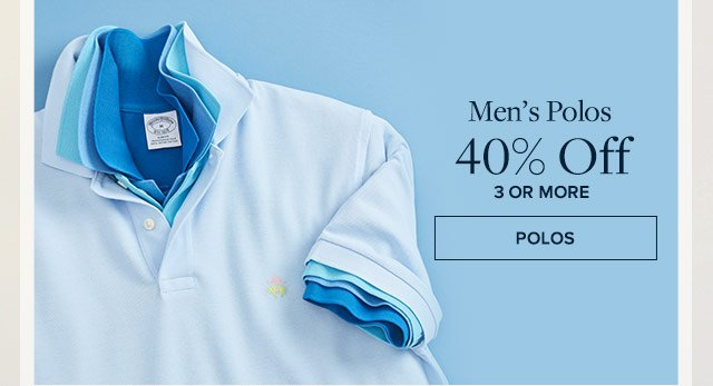Men's Polos 40% off 3 or more