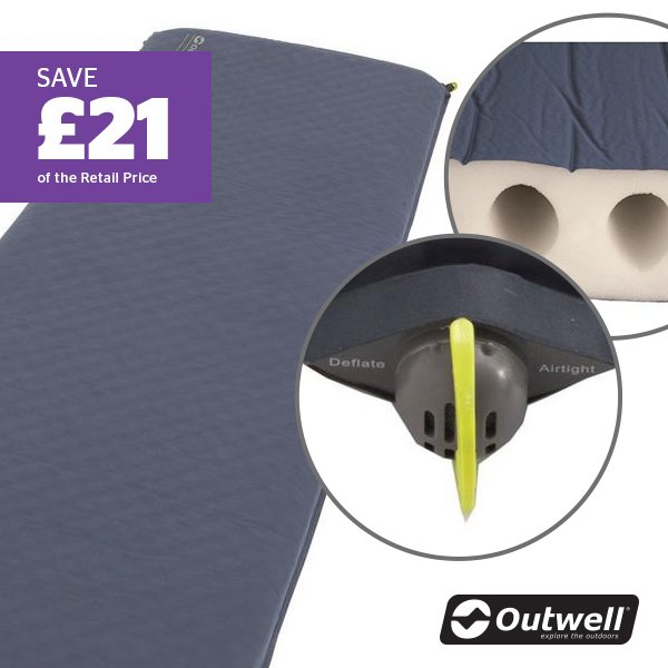 OUTWELL Dreamcatcher Single (10cm) Self Inflating Sleeping