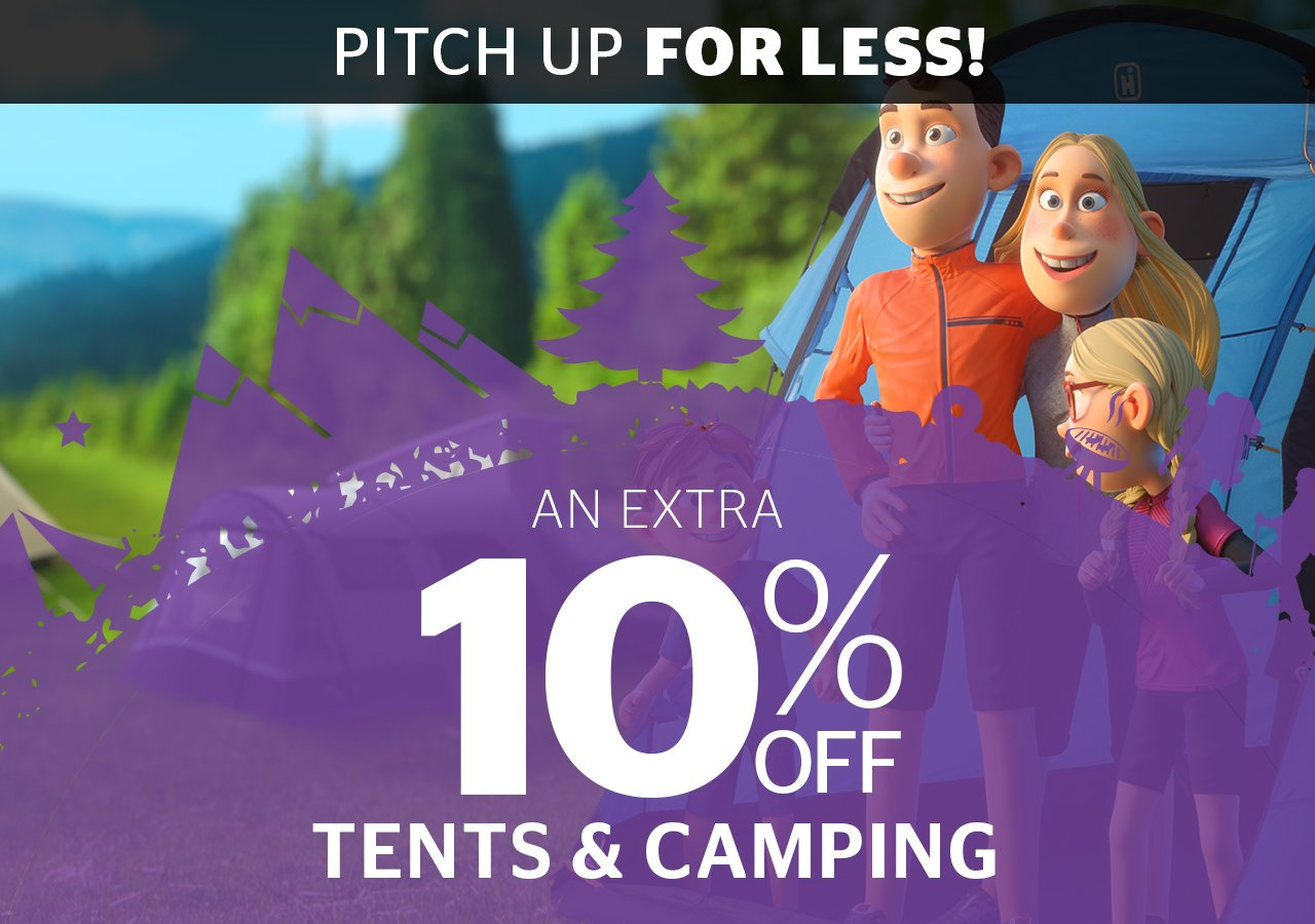 An extra 10% off the Discount Card price of Tents & Camping