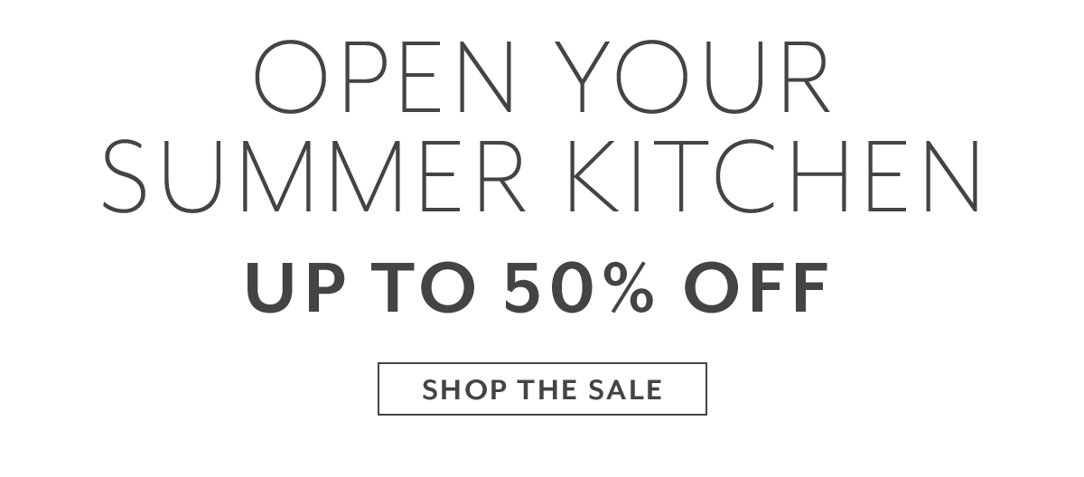 Open Your Summer Kitchen