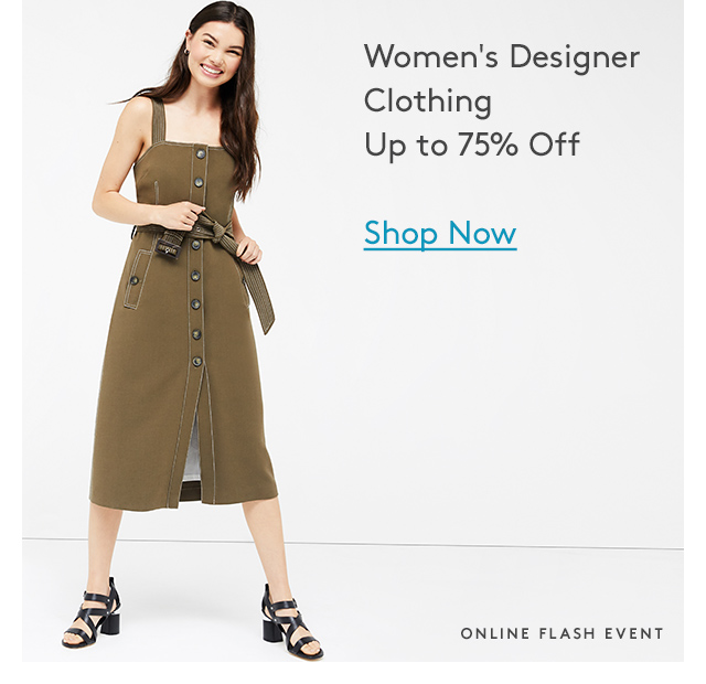 Women's Designer Clothing | Up to 75% Off | Shop Now | Online Flash Event