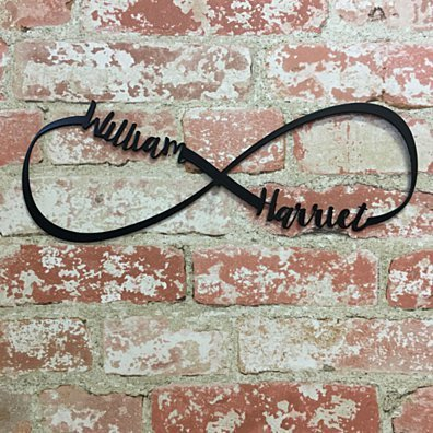 Infinity Couples Metal Sign