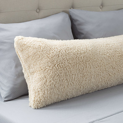 Warm Body Pillow Cover Soft Comfy Pillow Case Zippered Washable 52 x 18 inches Light Beige
