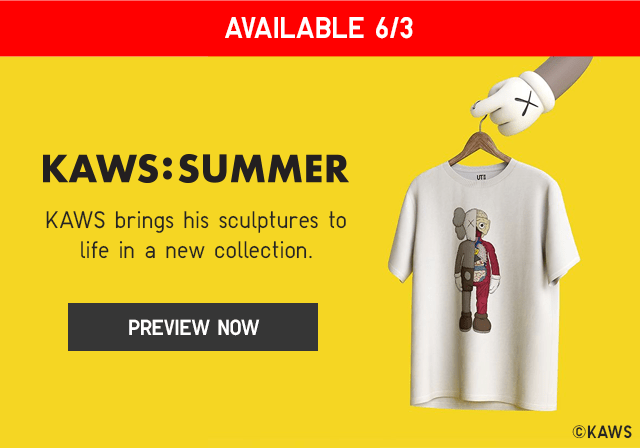 BANNER2 - KAWS: SUMMER AVAILABLE 6/3