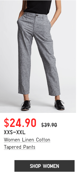 BODY2 PHP1 - WOMEN LINEN COTTON TAPERED PANTS