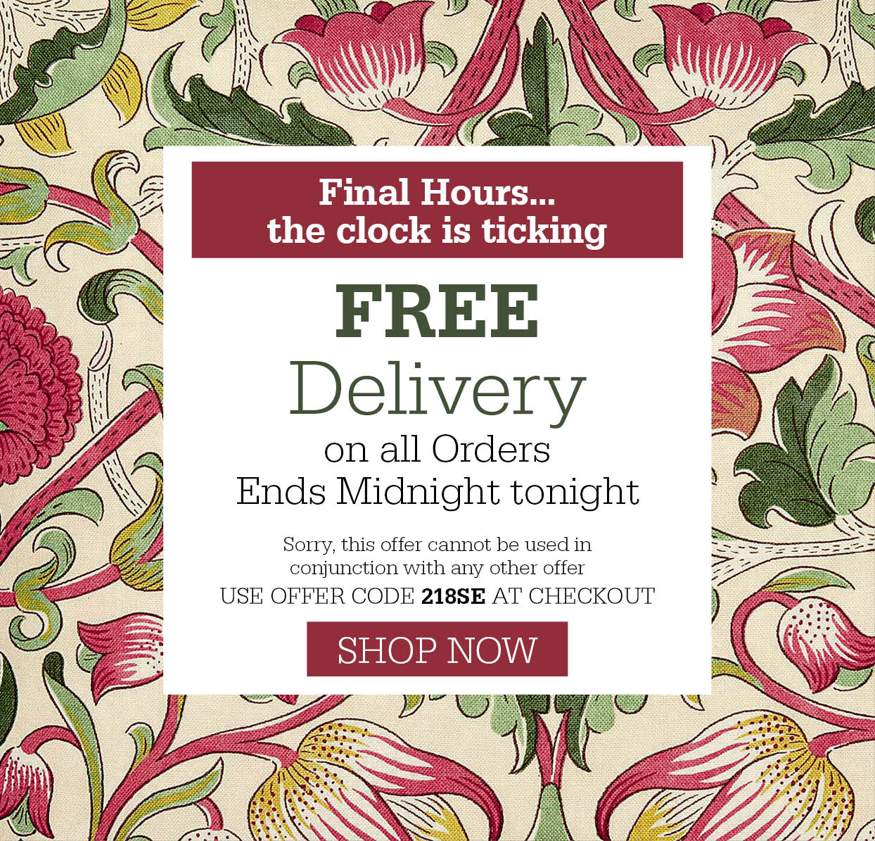 Free Delivery on all orders!
