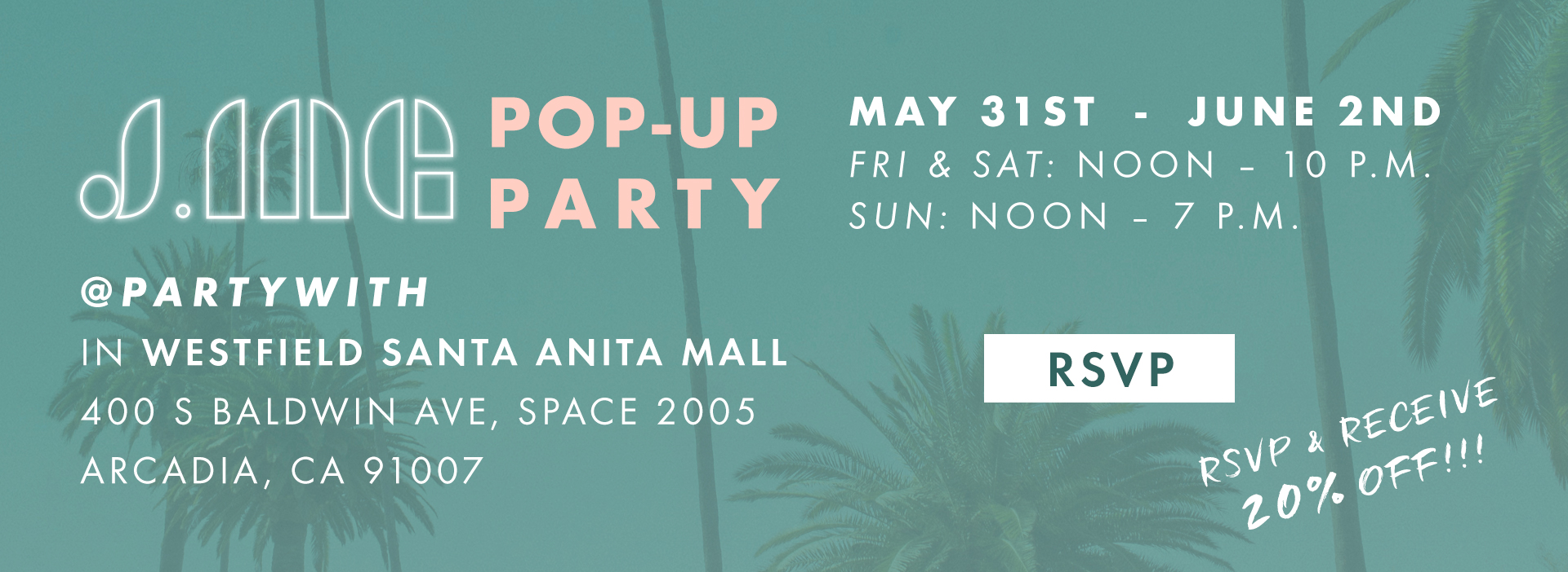 J.ING POPUP Party