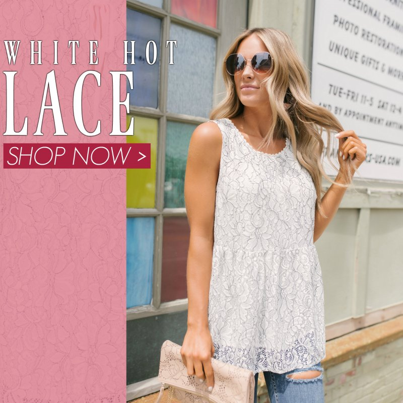 lace babydoll top and sunglasses