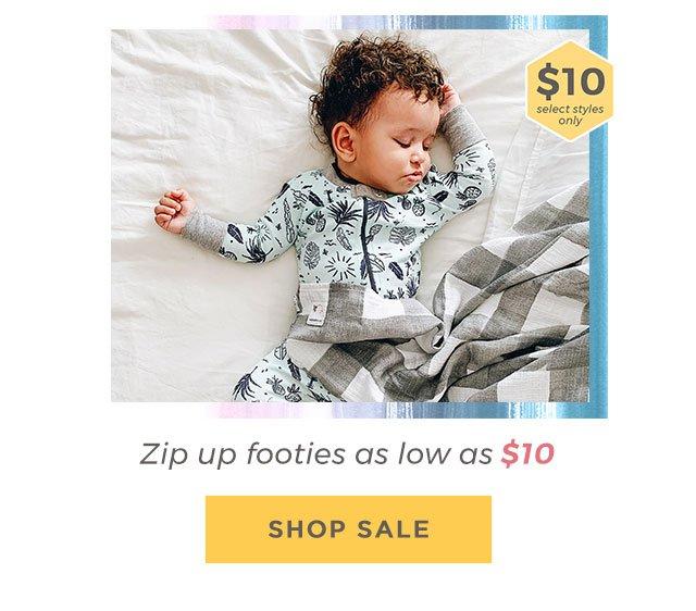 Zip up footies