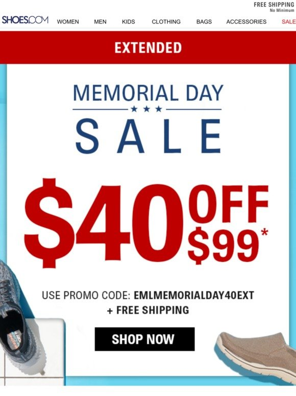 32650c3c0a2c0 Shoes.com: $40 OFF: Memorial Day Sale EXTENDED! | Milled