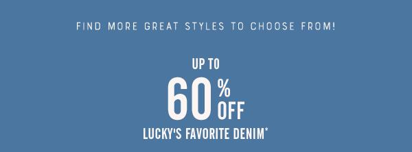 60% Off Denim