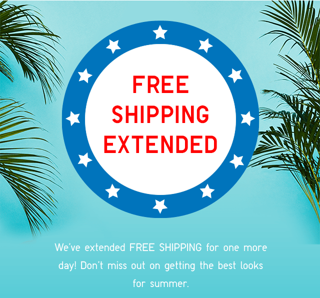 HEADER - FREE SHIPPING EXTENDED