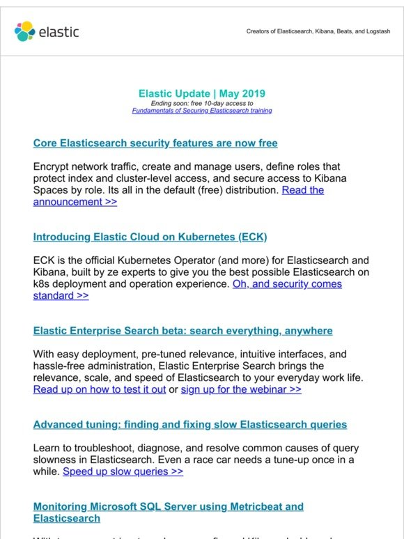Elastic: Securing Elasticsearch, k8s operator, and fixing slow