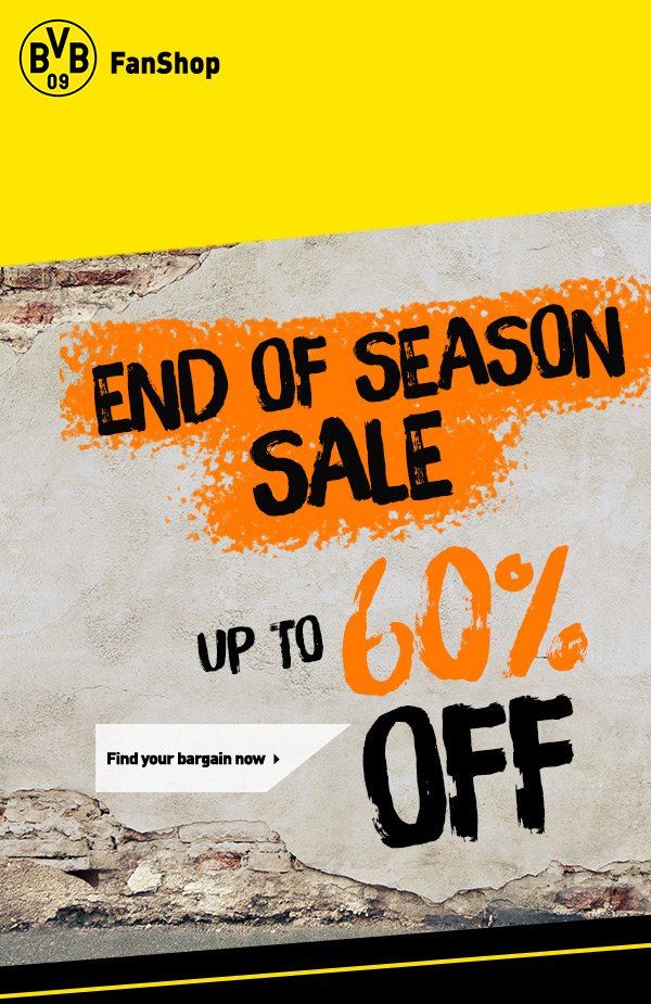Bvb Borussia Dortmund End Of Season Sale Up To 60 Off Across The Official Bvb Online Store Milled