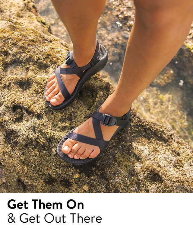 Sandals from Chaco and more.