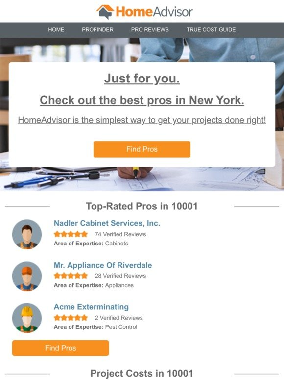 homeadvisor com: Just for You: The Best Pros in New York