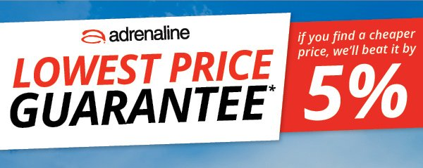 Lowest Price Guarantee - If you find a cheaper price, we'll beat it by 5%