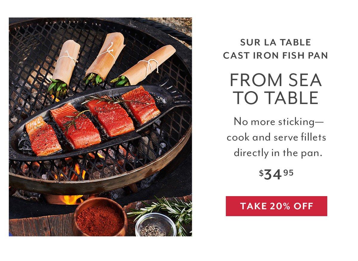 Grilling - Cast Iron Fish Pan