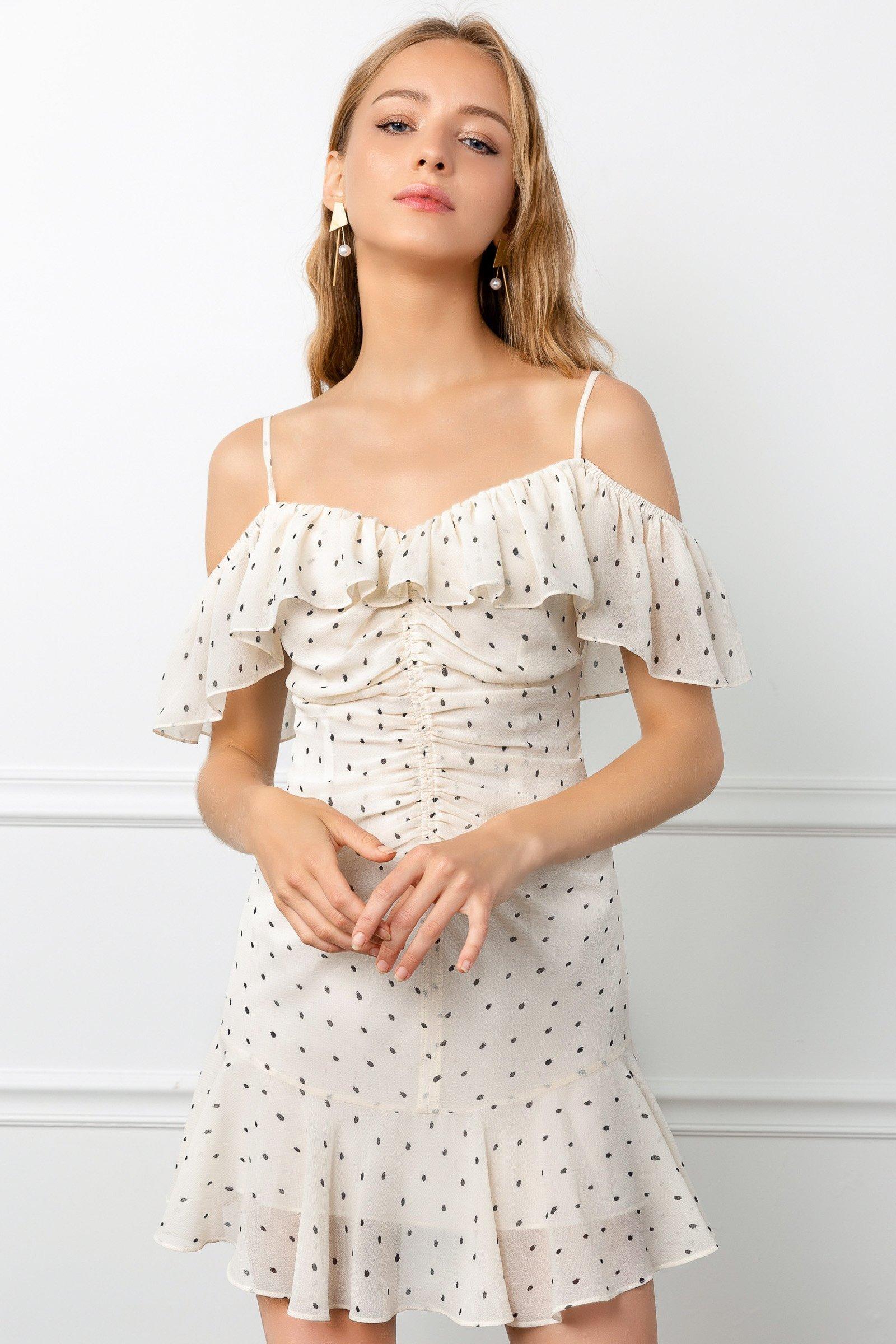 Image of RUCHED ROSALINE DRESS