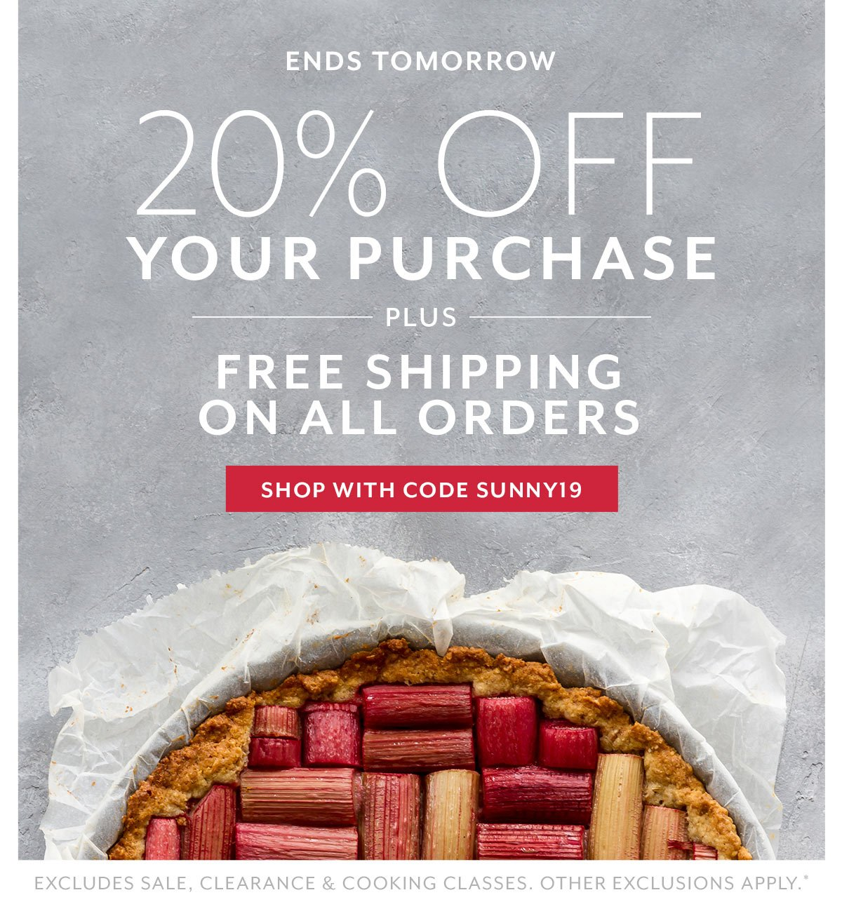 20% Off Your Purchase + Free Shipping